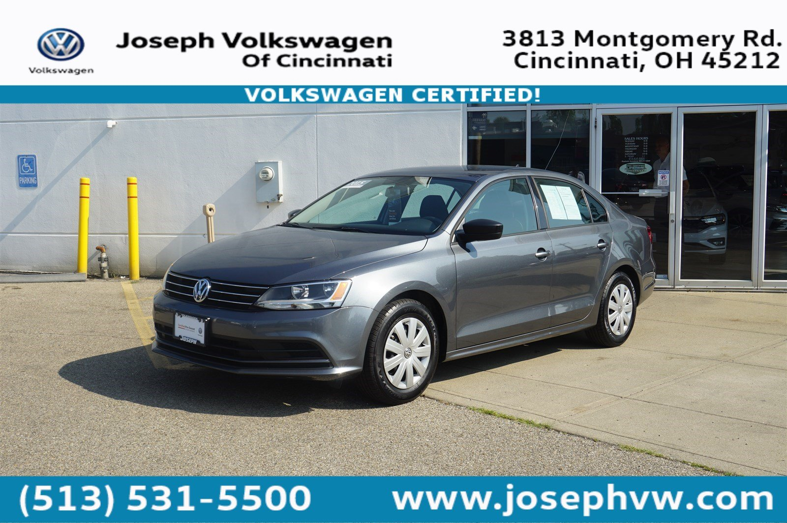 Certified Pre-Owned 2015 Volkswagen Jetta Sedan 2.0L S W/TECHNOLO