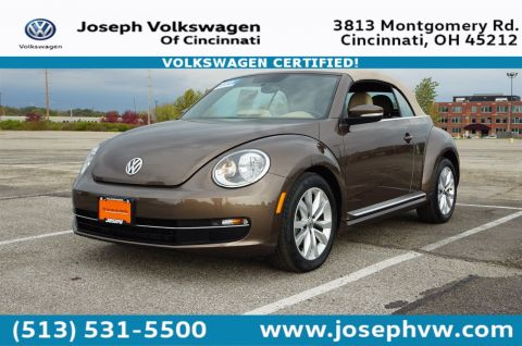 Certified Pre-Owned 2014 Volkswagen Beetle Convertible 2.0L TDI W/SOUND/